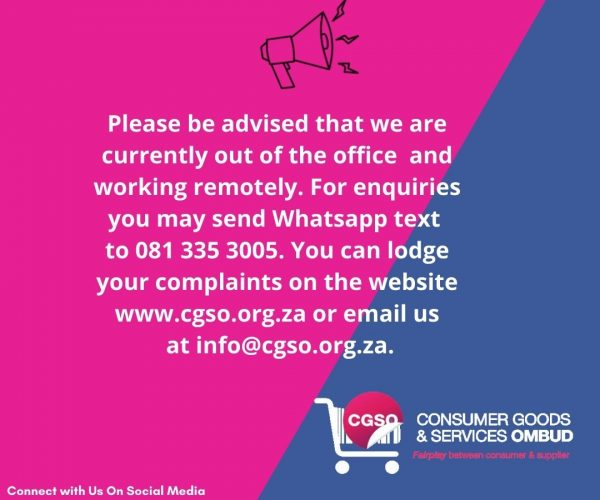 NOTICE – Out of Office