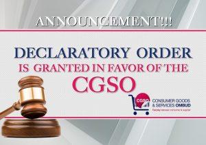 DECLARATORY ORDER popup NEW